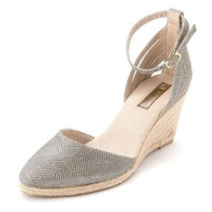 White Mountain Shoes - white mountain size 7 wedges sparkle